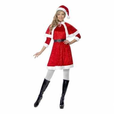 Foute rode kerstjurkjes met cape kleding
