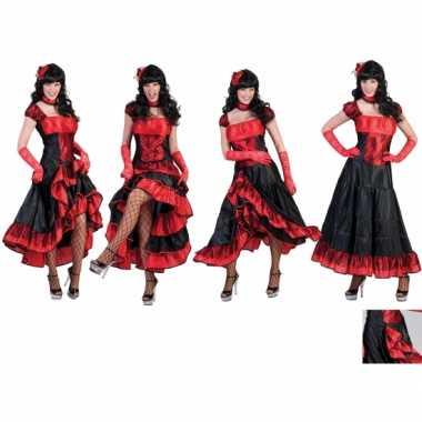 Foute rode moulin rouge jurk kleding