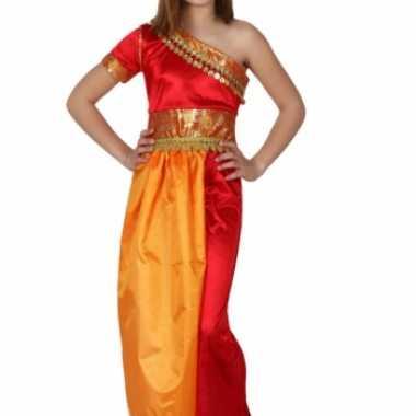 Foute rood met gele oosterse jurk kleding