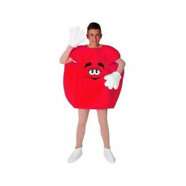 Foute rood snoep pak volwassenen kleding
