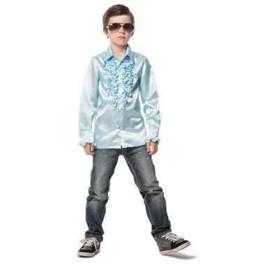 Foute rouche blouse jongens lichtblauw kleding