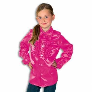Foute rouche blouse rouches blouse roze voor jongens roze kleding