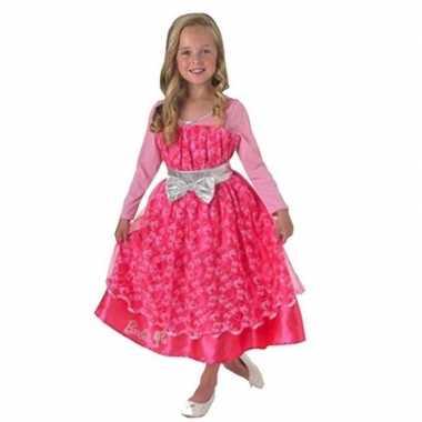 Foute roze barbie deluxe jurk voor meisjes kleding