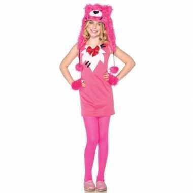 Foute roze berenpakje voor meisjes kleding