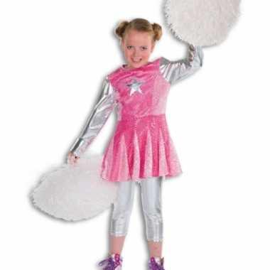 Foute roze cheerleader jurkje kleding