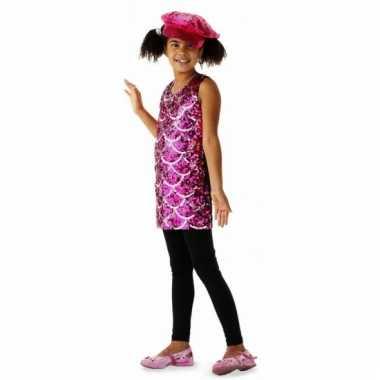 Foute roze jurkjes met pailletten voor kids kleding