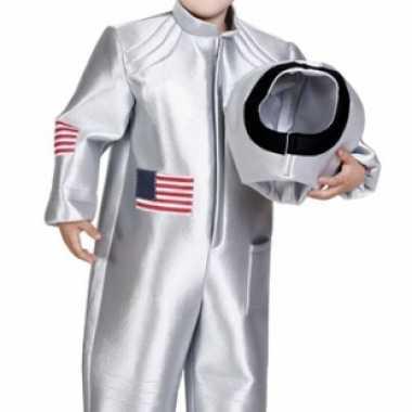 Foute ruimtepak voor kinderen zilver kleding