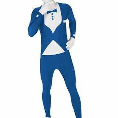 Foute kleding pak smoking blauw
