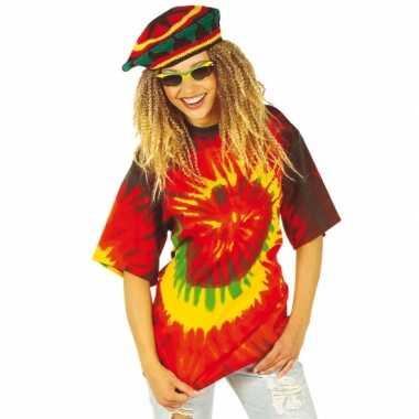 Foute tie dye hippie shirt kleding