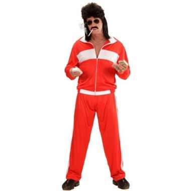 Foute trainingspak rood/wit kleding