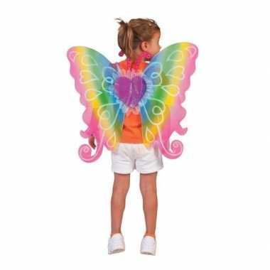 Foute vlinder vleugels voor kinderen regenboog kleding