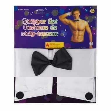 Foute vrijgezellenfeest stripperset kleding