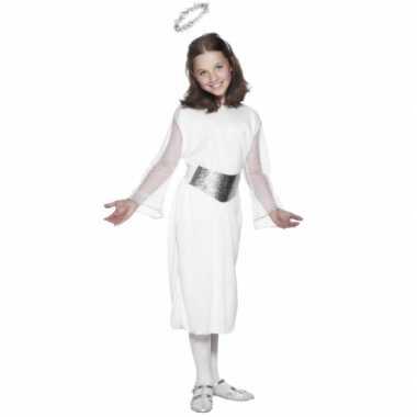 7d9db5cb675ee1 Foute witte engelen jurk met riem en aureool voor meiden kleding ...