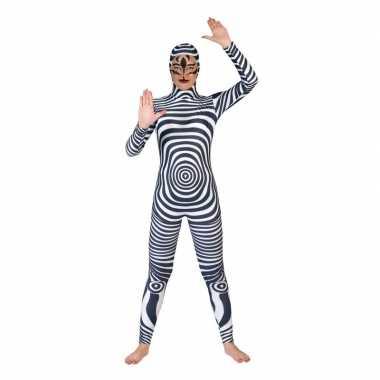 Zebra catsuit/foute kleding voor volwassenen