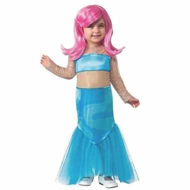Foute zeemeermin jurk met pruik voor meisjes kleding