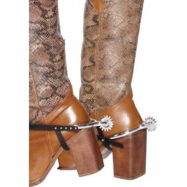 Foute zilveren cowboy sporen voor laarzen kleding