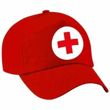 Foute zuster verpleegster pet baseball cap rood voor dames kleding