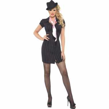 Foute zwarte gangster jurken kleding