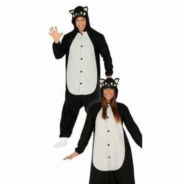 Foute zwarte kat/poes dieren pak voor dames kleding