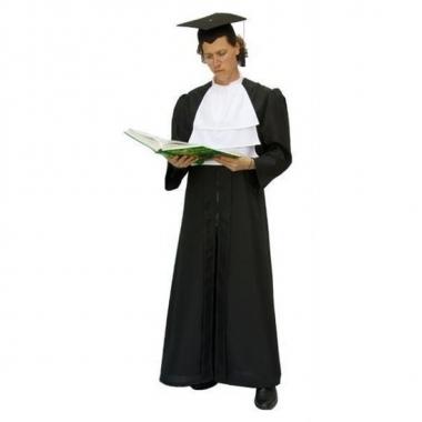 Foute zwarte toga voor advocaat kleding