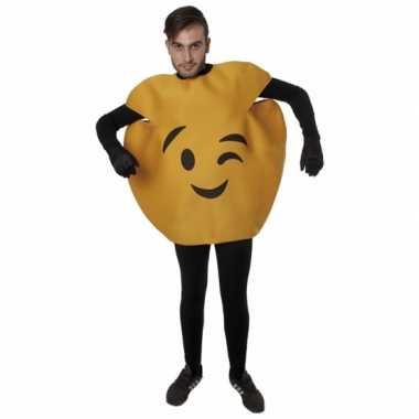 Fun wink emoticon foute kleding volwassenen