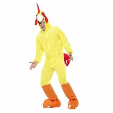 Geel kip/haan foute kleding voor volwassenen