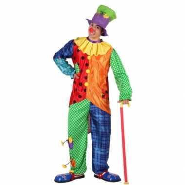 Gekleurd clowns foute kleding voor mannen