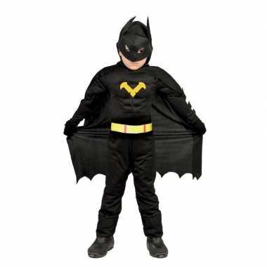 Gespierde vleermuisheld zwart foute kleding voor jongens