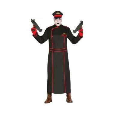 Gestapo foute kleding in het zwart