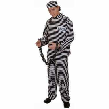 Gestreept gevangene foute kleding volwassene