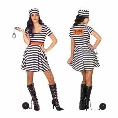 Gevangene/boef bonnie foute kleding/jurk voor dames