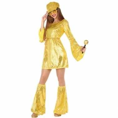 Gouden disco pak/foute kleding voor dames