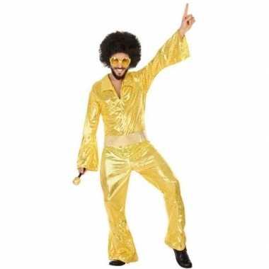 Gouden disco pak/foute kleding voor heren