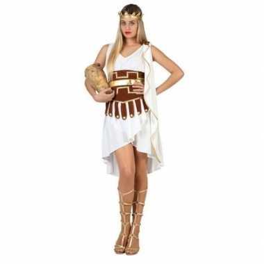 Griekse godin foute kleding/jurk wit/goud voor dames