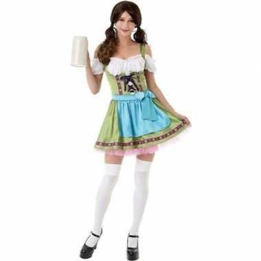Groen oktoberfest jurkje/dirndl foute kleding voor dames