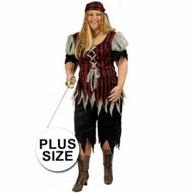 Grote maat dames piraten foute kleding
