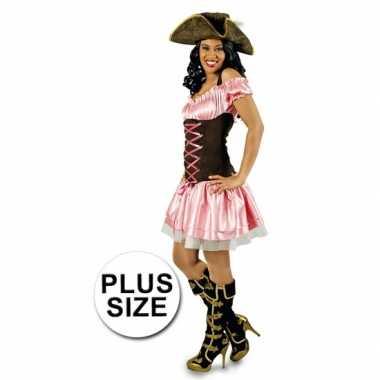 Grote maat foute kleding roze piratenjurkje