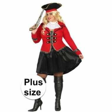Grote maat kapitein piraat grace pak/foute kleding voor dames