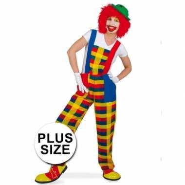 Grote maten clown pebbi foute kleding voor volwassenen