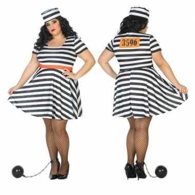 Grote maten gevangene/boef bonnie foute kleding voor dames