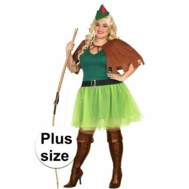 Grote maten robin hood foute kleding 4 delig voor dames