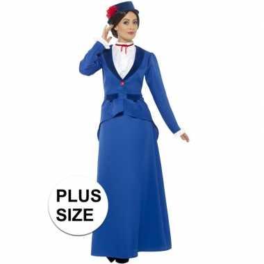 Grote maten victoriaanse kinderjuffrouw foute kleding voor dames