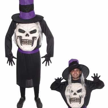 Halloween doodskop halloween met hoed foute kleding voor heren