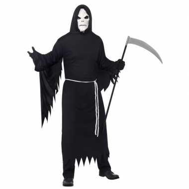 Halloween foute kleding magere hein met masker voor volwassenen