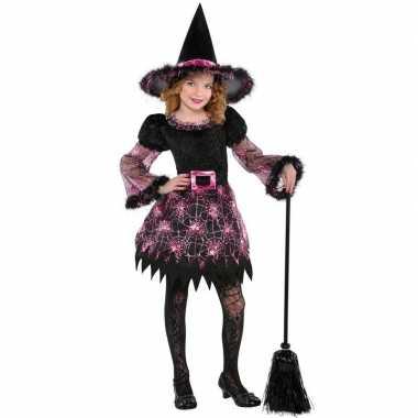 Halloween heksen foute kleding spinnenweb voor meisjes
