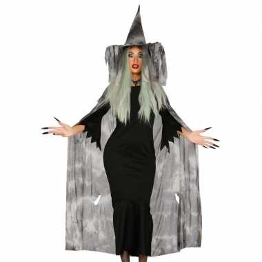 Halloween heksencape halloween foute kleding met hoed voor dames