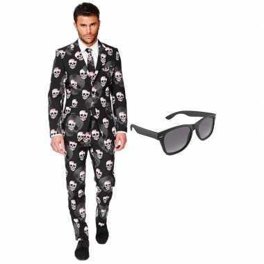 Halloween heren foute kleding maat 56 (xxxl) met gratis zonnebril