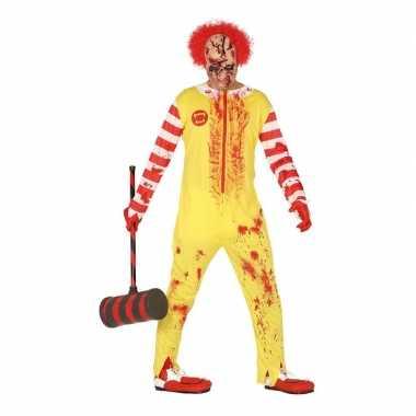 Halloween horror clown ronald foute kleding voor heren