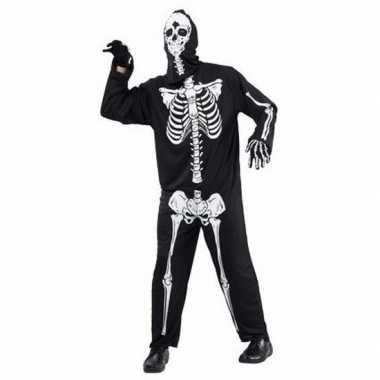 Halloween horror skelet foute kleding voor volwassenen