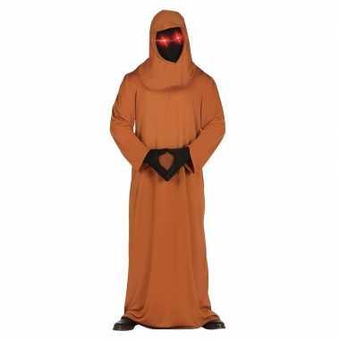 Halloween horror space foute kleding met lichtgevende ogen